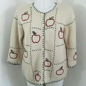 Hand Embroidered Sweater by Christopher and Banks